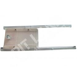 Sliding door for window in polycarbonate