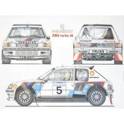 Peugeot 205 T16 Kit finestrini in policarbonato Competizione