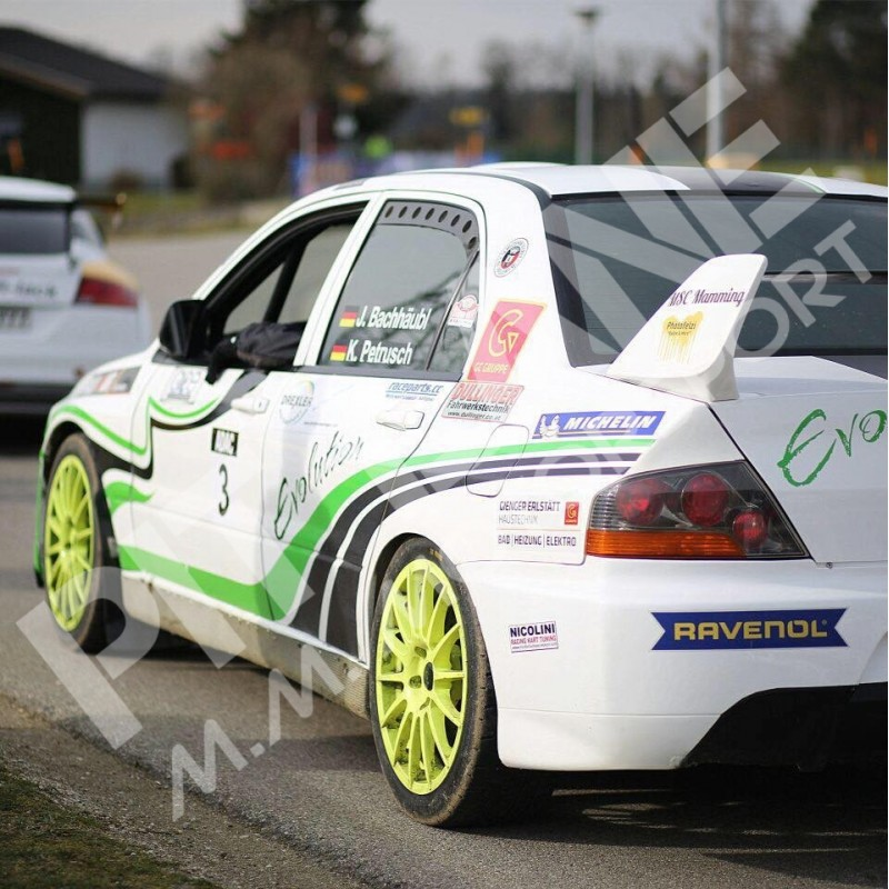 Mitsubishi EVO 9 Pair of rear window vents in carbon fibre ...