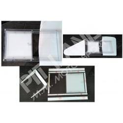 Schiebetür für Fenster aus Polycarbonat