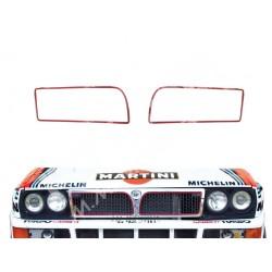 Lancia DELTA INTEGRALE 16v - Lancia DELTA EVOLUZIONE Pair of red profiles for the front grille