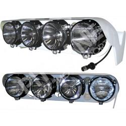 Lancia DELTA INTEGRALE 16v - Lancia DELTA EVOLUZIONE Lamp pods in fiberglass Complete