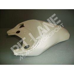 Ducati 848 - 1098 - 1198 2007-2011 Codone Monoposto per sella originale con faro aperto in vetroresina