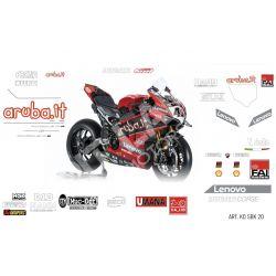Race replica stickers kit Aruba Ducati Superbike 2020