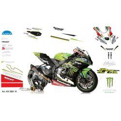 Race replica stickers kit Kawasaki SBK 2018