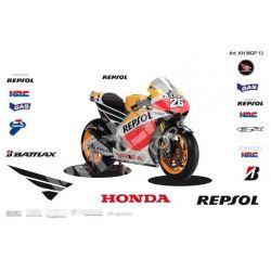 Race replica stickers kit Honda MotoGP REPSOL 2013