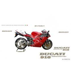 Kit adesivi Replica Ducati 916