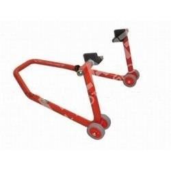 Universal rear adjustable paddock stand with L gum adaptors
