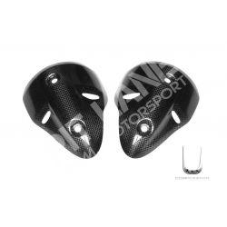 Coppia protezione silenziatori Ducati in carbonio