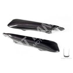 Coppia fiancate posteriori con scarico singolo Termignoni Ducati in carbonio
