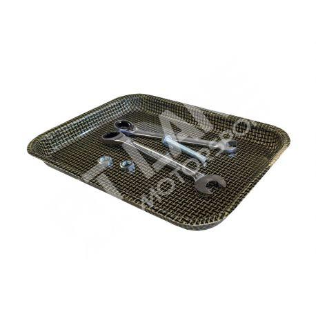Tool holder plate in carbonkevlar